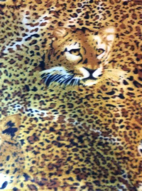 leopard spots animal print jungle brown fleece fabric fleece fabric yellow leopard cheetah animal safari jungle