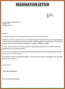 How To Give A Resignation Letter by 9 How To Make Resignation Letter Sles Lease Template