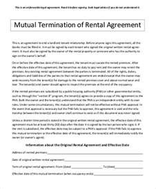 Mutual Contract Termination Agreement Template doc 580826 mutual agreement contract doc12751650