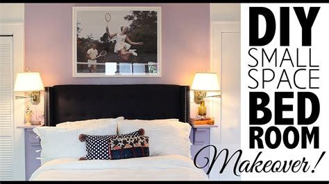 diy small space bedroom makeover home decor youtube
