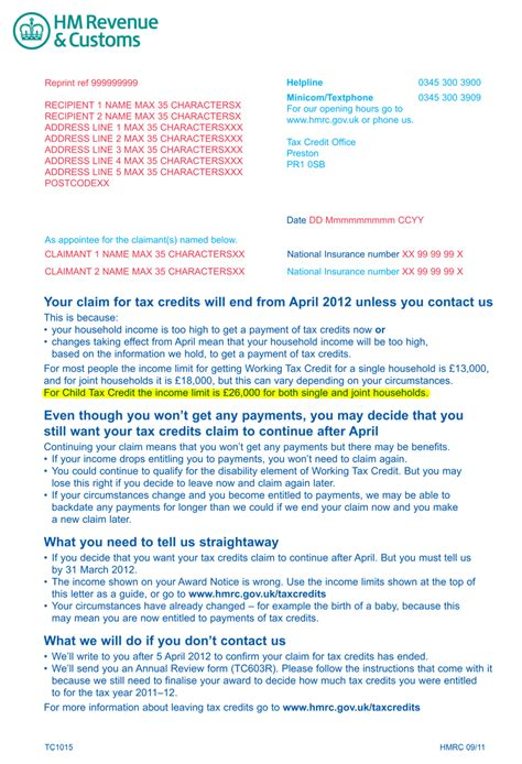 Proof Of Income Letter Hmrc Hmrc Sends Wrong Benefits Warning To 1m Families