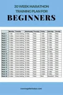 20 week marathon plan for beginners running