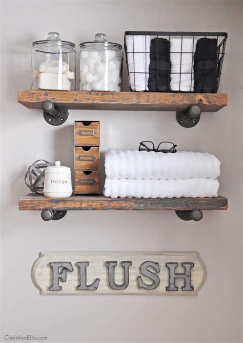 bliss home decor diy industrial farmhouse bathroom sign cherished bliss