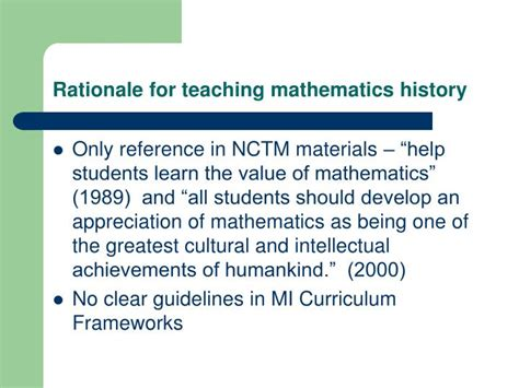 the teaching and history of mathematics in the united states classic reprint books ppt the history of mathematics necessary knowledge for