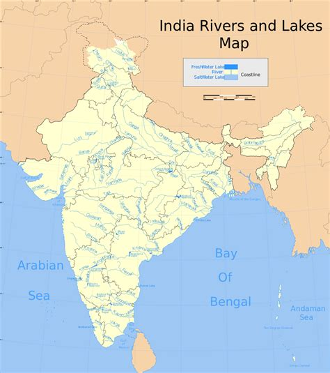 river map list of major rivers of india