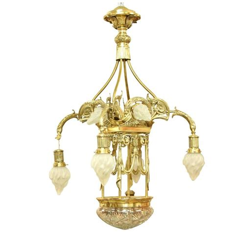 European Chandeliers European Nouveau Secessionist Style Grand Chandelier For Sale At 1stdibs