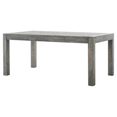 Grey Reclaimed Wood Dining Table Neibolt Rustic Lodge Grey Reclaimed Wood Rectangular Dining Table Kathy Kuo Home