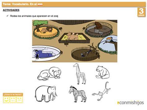 imagenes de animales del zoologico para preescolar animales del zoo ficha para liar vocabulario