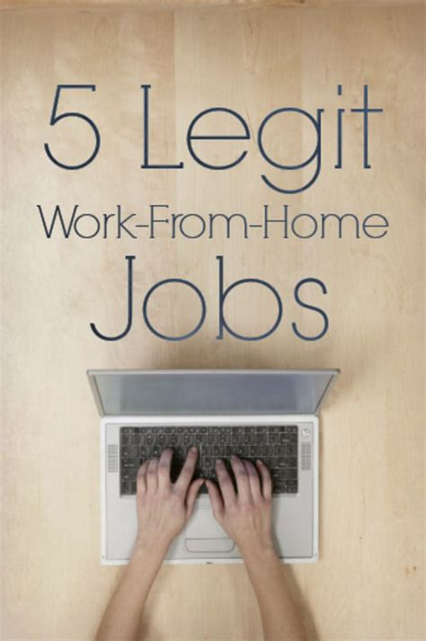 5 legitimate work from home jobs opportunities 2017