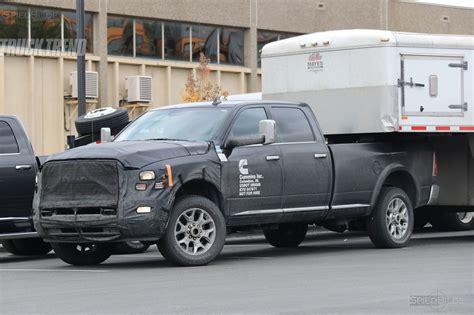 2018 ram trucks spied 2018 ram 2500 3500 heavy duty with updated cummins