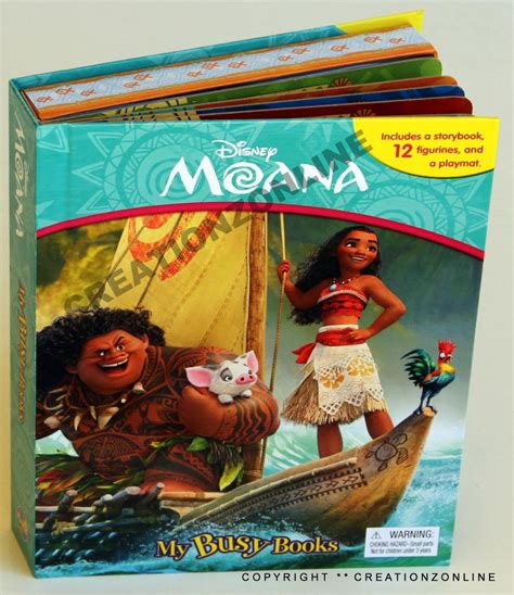 Figure Isi 12 Busy Book moana my busy books 12 figures play mat books childrens story disney ebay