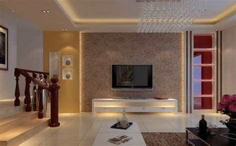 Designs For Walls Of Living Room by Living Room Interior Tv Wall Design Interior Design