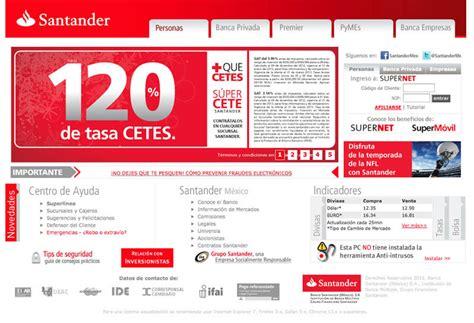 banco santander mx sitio oficial de santander www santander mx