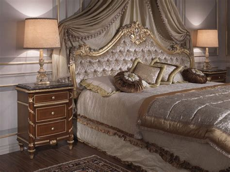 18th Century Bedroom Furniture Classic Bedroom Italian 18th Century Bed Cherry Wood Tablss In Louis Xv Style