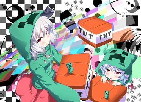 minecraft anime girl wallpaper touhou wallpaper zerochan
