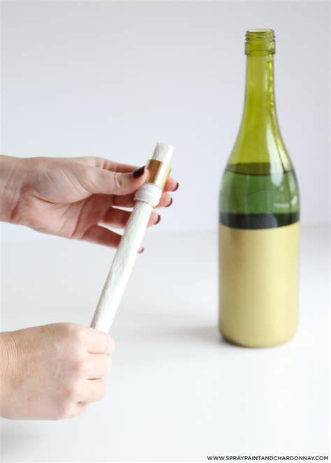 wine bottle tiki torch diy diy wine bottle tiki torch spray paint chardonnay