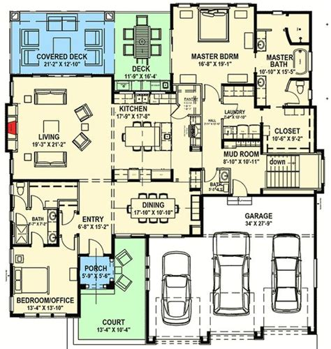 house plans for sloping lots in the rear plan 64421sc modern prairie house plan for a rear sloping