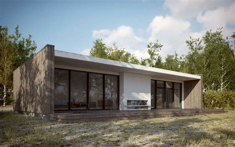 Cottage Plans With Garage by Making Of Scandinavian Summer House 3d Architectural