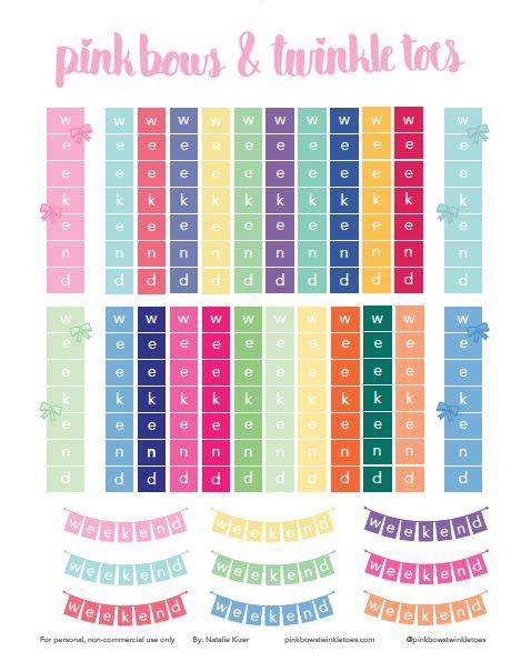 printable weekend planner stickers free printable weekend banner planner stickers free