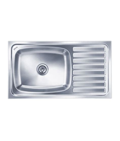 Nirali Kitchen Sinks Buy Nirali Kitchen Sink Single Bowl Elegance Ultra Big Glossy At Low Price In India