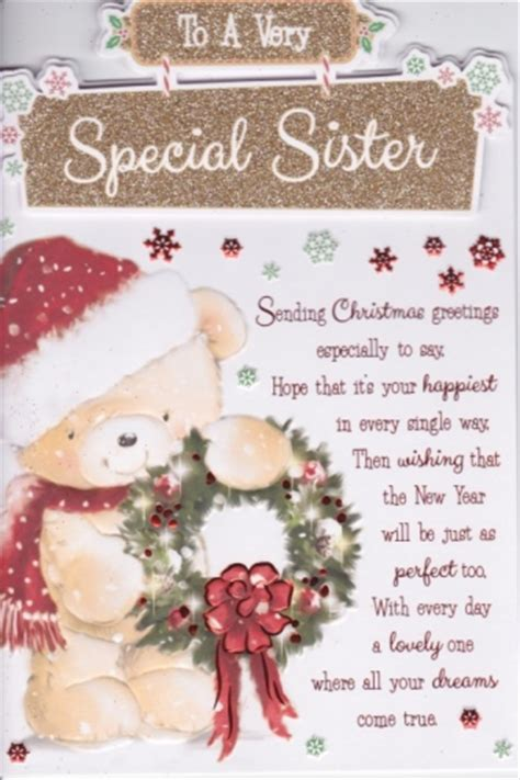 special sister christmas  personalised braille xmas cards