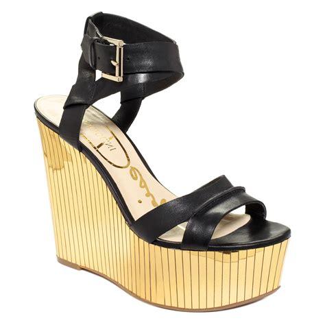 enzo angiolini zamaz platform wedge evening sandals in