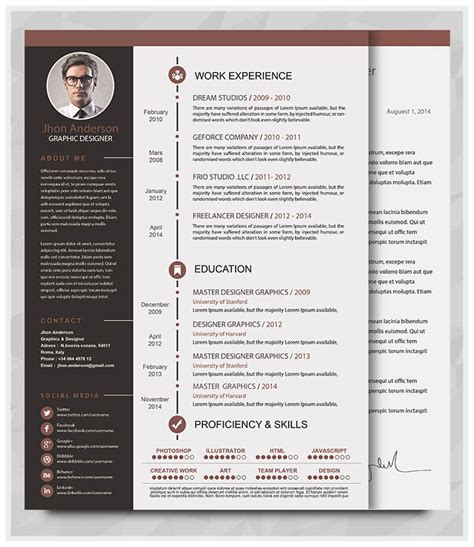 Resume Template Docx Best Professional Resume Templates Psd Ai Word Free