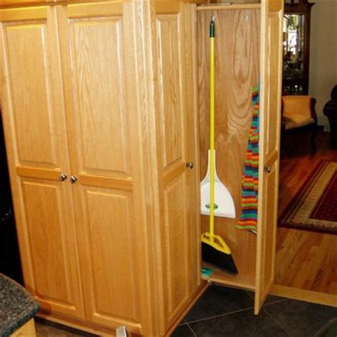 pull out broom closet kitchen ideas