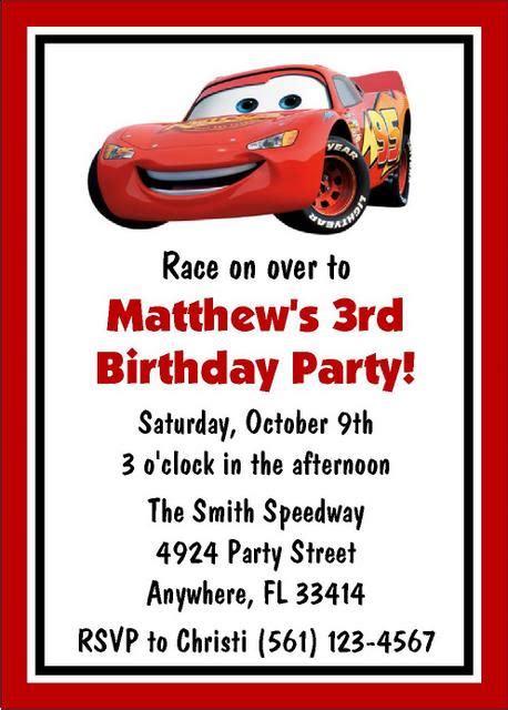 birthday invitation card template cars cars birthday invitation templates