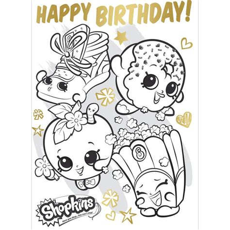 shopkins coloring pages birthday shopkins happy birthday coloring pages shopkins best