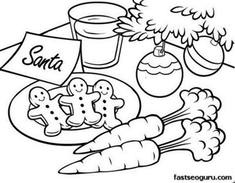coloring pages christmas cookies printable christmas gingerbread cookies for santa coloring