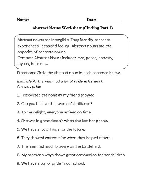 englishlinx nouns worksheets