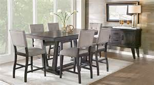 Black Dining Room Furniture Sets Hill Creek Black 5 Pc Counter Height Dining Room Dining Room Sets Black