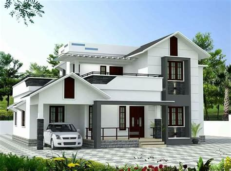 1832 square 4 bhk beautiful slop roof modern house