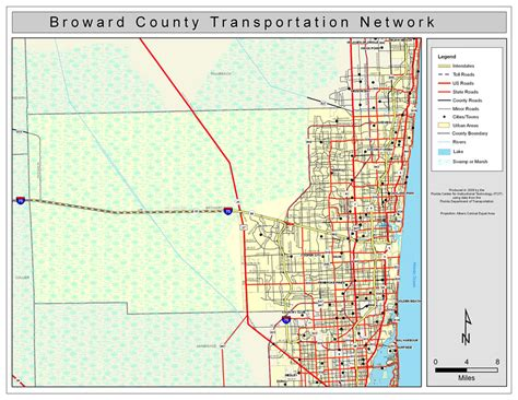 broward county florida map broward county road network color 2009