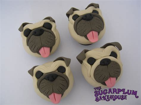 pug faced dogs pug cupcakes cakecentral