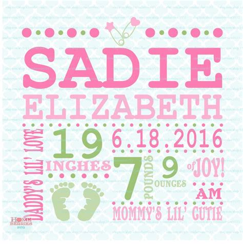 17 best ideas about birth announcement template on