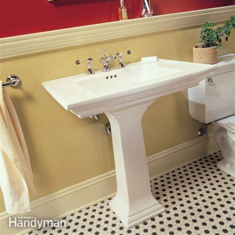 how to plumb a bathroom sink how to plumb a pedestal sink the family handyman
