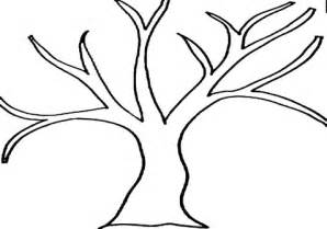 tree template without leaves tree without leaves coloring printable tree templates