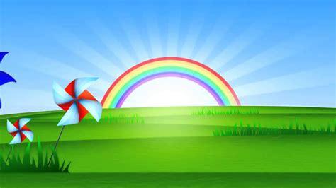 imagenes infantiles full hd fondo animado paisaje arco iris full hd animate