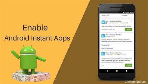 instant android app how to enable instant apps and how to use them in android nougat clickitornot
