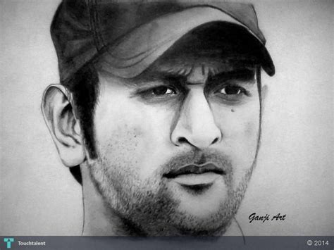M S Dhoni Sketches by Dhoni In Sketching By Shruti Ganji Tekenen