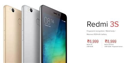 Xiaomi Redmi 3s 2 16 Grey xiaomi redmi 3s and redmi 3s prime unveiled in india