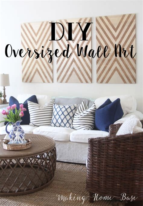 diy oversized wall