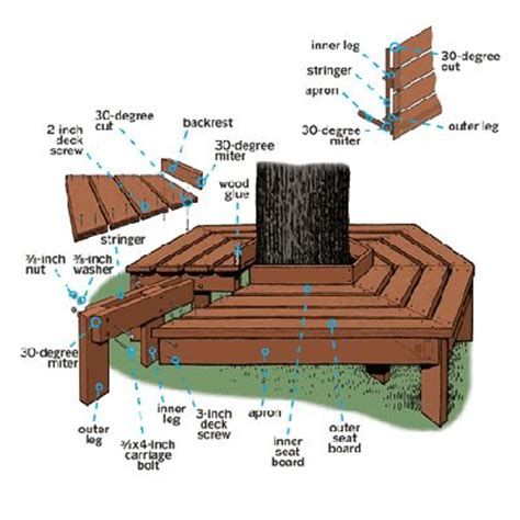wrap around tree bench plans wrap around tree bench plans free woodworking projects