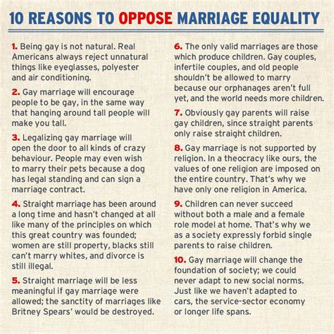 8 Reasons To Support Marriage by 10 Reasons To Oppose Marriage Equality Social Anxiety Forum