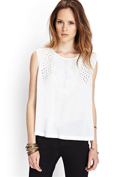 F21 Pleat Blouse laceyditsy