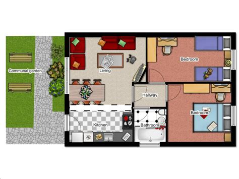 2 Bedroom Bungalow Floor Plan Click The Floorplan To House Plans 1 Bedroom Bungalow