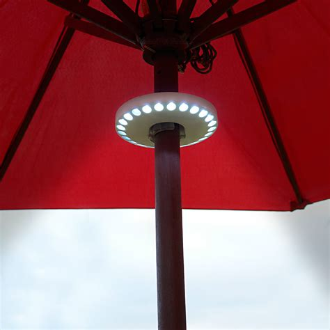 Patio Umbrella With Led Lights by Powerful Led Patio Umbrella Lights