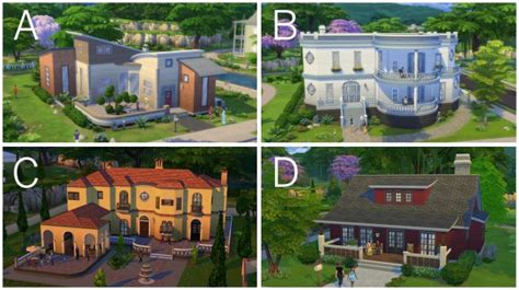 The Sims 4: Screenshots of Pre made Houses